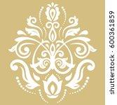 oriental vector golden and... | Shutterstock .eps vector #600361859
