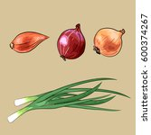 set of onion   red  yellow and...