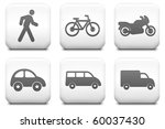 transportation icons on square... | Shutterstock . vector #60037430