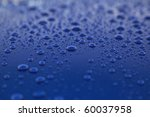 rain drops on blue car body ... | Shutterstock . vector #60037958