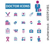 doctor icons | Shutterstock .eps vector #600391481