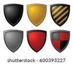vector shield design elements. ...   Shutterstock .eps vector #600393227