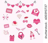 love collection | Shutterstock .eps vector #600393737