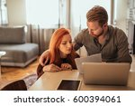 photo of a young loving couple... | Shutterstock . vector #600394061