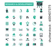 research development icons  | Shutterstock .eps vector #600407375