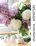 Bouquet Of Fresh Lilac Flowers...