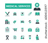 medical services icons | Shutterstock .eps vector #600413597