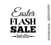 easter sale offer. vector... | Shutterstock .eps vector #600414395