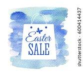 easter sale card. vector...   Shutterstock .eps vector #600414437