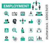 employment icons | Shutterstock .eps vector #600415655
