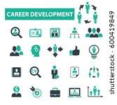 career icons  | Shutterstock .eps vector #600419849