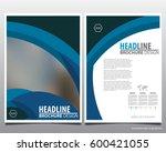 flyer cover business brochure... | Shutterstock .eps vector #600421055
