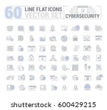 vector graphic set. icons in... | Shutterstock .eps vector #600429215