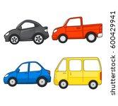 cars cartoon vector set | Shutterstock .eps vector #600429941