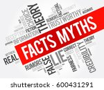 facts   myths word cloud...   Shutterstock .eps vector #600431291