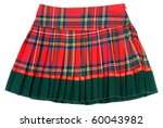 plaid red feminine skirt on... | Shutterstock . vector #60043982