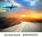city road through modern... | Shutterstock . vector #600444539