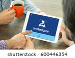 workflow concept | Shutterstock . vector #600446354