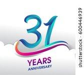 31 years anniversary... | Shutterstock .eps vector #600446939