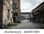 old and collapsing abandoned... | Shutterstock . vector #600447485