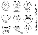black and white cartoon funny...   Shutterstock .eps vector #600449159