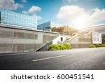 empty road near modern building ... | Shutterstock . vector #600451541