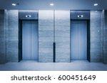 an empty modern elevator or... | Shutterstock . vector #600451649
