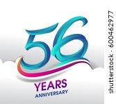 56 years anniversary... | Shutterstock .eps vector #600462977