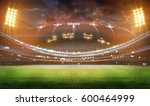 stadium in lights and flashes... | Shutterstock . vector #600464999
