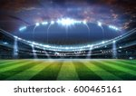 lights at night and stadium 3d. | Shutterstock . vector #600465161