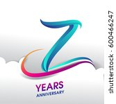 7 years anniversary celebration ... | Shutterstock .eps vector #600466247