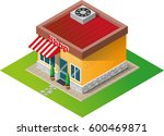 isometric house shop | Shutterstock .eps vector #600469871