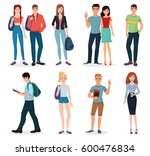 international young people... | Shutterstock . vector #600476834