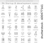startup and development ultra... | Shutterstock . vector #600477161