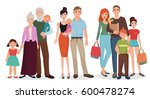 happy family detailed couples... | Shutterstock . vector #600478274