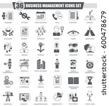 business management black icon ... | Shutterstock . vector #600478679