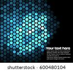 lighting blue hexagons   Shutterstock .eps vector #600480104