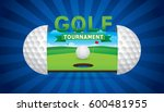 vector of golf tournament with...   Shutterstock .eps vector #600481955