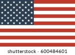 american flag | Shutterstock . vector #600484601