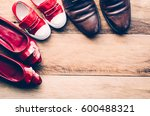 shoes  three pairs of dad  mom  ... | Shutterstock . vector #600488321