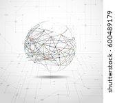 global network connection....   Shutterstock .eps vector #600489179