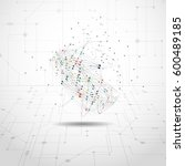 world map point  line ... | Shutterstock .eps vector #600489185