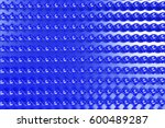 blue plastic spiral sticks on... | Shutterstock . vector #600489287