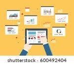flat design vector illustration ... | Shutterstock .eps vector #600492404
