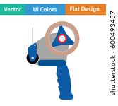 scotch tape dispenser icon.... | Shutterstock .eps vector #600493457