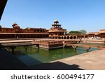 fatehpur sikri is a dead city... | Shutterstock . vector #600494177