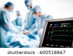 monitoring of ecg and... | Shutterstock . vector #600518867