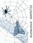 spider web and dollar  online... | Shutterstock . vector #60052723
