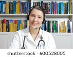 friendly doctor or general... | Shutterstock . vector #600528005