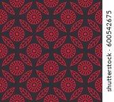 floral seamless pattern.... | Shutterstock .eps vector #600542675
